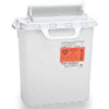 """Clean and Green: BD - Multi-purpose Sharps Container Recycleen 15.75H"""" x 13.5W"""" x 6D"""" 3 Gallon Pearl Counterbalanced Door"""