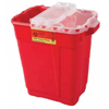 BD Multi-purpose Sharps Container 2-Piece 18.5H x 17.75W x 11.75D 9 Gallon Red Base Hinged Lid MON 35612801