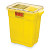 BD Chemotherapy Sharps Container 2-Piece 18.5H x 17.75W x 11.75D 9 Gallon Yellow Base Sliding Lid MON 452911CS