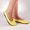 PBE Slippers Pillow Paws Lemon Below the Ankle MON 36341200