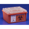 Hypodermic Needles Syringes With Safety: Medtronic - Sharps-A-Gator™ Sharps Container, Slide Lid, Red, 1 Gallon