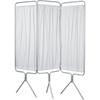 Winco Privacy Screen Folding 3-Panel Clear Coat Aluminum, 1/ EA MON37093200