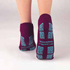 slippers: PBE - Slipper Socks Tred Mates Adult X-Large Gray Ankle High