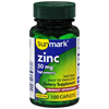 McKesson Mineral Supplement sunmark 1 Caplet: Zinc / Zinc Gluconate / Microcrystalline Cellulose / Dicalcium Phosphate / Croscarmellose Sodium / Stearic Acid / Hypromellose / Magnesium Stearate / Polyethylene MON 39812700