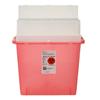 Hazardous Waste Control: Medtronic - Sharps-A-Gator™ Sharps Container, Tortuous Path, Transparent Red, 5 Quart