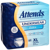 Attends Adult Absorbent Underwear Attends® Pull On X-Large Disposable Moderate Absorbency MON 40103120