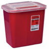 Medtronic Sharps-A-Gator™ 10.25H X 7D X 10.5W 2 Gallon Red Base Sliding Lid MON 41132800