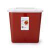 Medtronic Sharps-A-Gator™ 10.25H X 7D X 10.5W 2 Gallon Red Base Sliding Lid MON 41132800