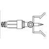 B. Braun Dispening Pin Mini Spike , 50 EA/CS MON 349479CS