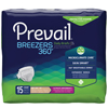 First Quality Prevail® Breezers 360° Ultimate Absorbency Winged Brief, Size 3, (58 to 70), 15/PK MON 41403100
