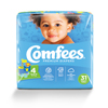 Attends Baby Diaper Comfees Tab Closure Size 4 Disposable MON 41543101