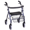 Nova Ortho-Med Rolling Walker Cruiser Deluxe Blue Adjustable Height MON 42203800