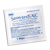 hand wipes: PDI - Antiseptic Hand Wipe Sani-Hands® ALC 8 X 5.3 Inch Fragrance Free Individual Packet Disposable, 100EA/BX 10BX/CS