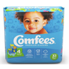 Attends Baby Diaper Comfees Tab Closure Size 4 Disposable Moderate Absorbency, 31/BG MON 44443104