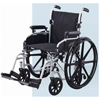 Merits Health Transport Wheelchair High Strength Lightweight Padded Flip Back Desk Arm Mag Black 18 250 lbs. MON 45004200