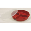 Maddak Partitioned Scoop Dish Red Reusable 2 X 12 X 12.75 Inch MON 45277700