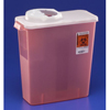 medtronic: Medtronic - SharpSafety™ Sharps Container, Dialysis Container, Rotor/Hinged Lid, Transparent Red, 3 Gallon