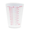 Medical Action Industries Drinking Cup 9 oz. Cold Translucent with Red Graduations Polypropylene, 25/SL MON 47312900