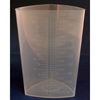 McKesson - Triangular Graduated Container Polypropylene Without Lid 32 oz.