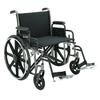 "Rehabilitation: Merits Health - Bariatric Wheelchair Heavy Duty Removable Desk Arm Mag Black 24"" 400 lbs. (N473UMDZMU0)"