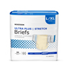 McKesson Ultra Plus Stretch Heavy Absorbency Briefs, Large / X-Large, 80/CS MON 48663100
