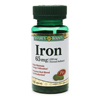 Minerals Iron: US Nutrition - Iron Supplement Nature's Bounty 65 mg Strength Tablet 100 per Bottle