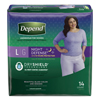 Kimberly Clark Professional Depend Night Defense® Protective Underwear (45599), Large, 14/PK MON 49553102