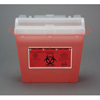 Bemis Health Care Multi-purpose Sharps Container Wall Safe® 1-Piece 5 Quart Red Base Horizontal Entry Lid, 32EA/CS MON 50312800