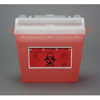 Bemis Health Care Multi-purpose Sharps Container Wall Safe® 1-Piece 5 Quart Red Base Horizontal Entry Lid MON 50312802