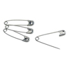 gf health: GF Health - Nickel-Plated Steel Safety Pins, Size 3