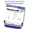 Hemocue Rapid Diagnostic Test Kit Hemoccult® ICT Immunochemical Colorectal Cancer Screen Fecal Occult Blood Test (FIT or iFOBT) Stool Sample CLIA Waived 20 Tests MON 527565BX