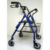 McKesson Rollator sunmark® Econo 32 to 37 Inch Blue Rollator Aluminum MON 53013800