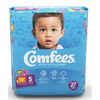 Attends Baby Diaper Comfees Tab Closure Size 5 Disposable Moderate Absorbency, 27/BG, 4BG/CS MON 53533110
