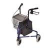 Mabis Healthcare 3 Wheel Rollator DMI Royal Blue Folding Aluminum Frame, 1/ EA MON 1095378EA