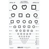 Good-Lite Distance Vision Eye Chart Lea Symbols 10 and 20 Foot Fractions Only, 1/ EA MON 550605EA