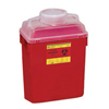 BD Multi-purpose Sharps Container 1-Piece 17.5H x 12.5W x 8.5D 6 Gallon Red Base Vertical Entry Lid MON 54572801