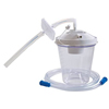 respiratory: Home Health Medical Equipment - Suction Canister Kit 800 cc Float Valve Shut-off, White Lid