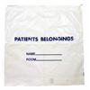 Donovan Industries Patient Belongings Bag, 20 X 20, Polyethylene, Drawstring Closure, White, 1/EA MON 288097EA