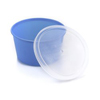 McKesson Denture Cups 8 oz. Aqua Snap-On Lid Single Patient Use MON 56932925