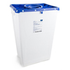 McKesson Sharps Container Prevent® 24.68H X 17.3W X 13L Inch 18 Gallon White Base, Blue Lid MON 57222801