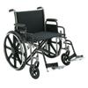 Merits Health Bariatric Wheelchair Removable Desk Arm Mag Black 20 (N573WMDZMU0) MON 825560EA