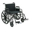 Merits Health Bariatric Wheelchair Removable Desk Arm Mag Black 24 (N573UMDZMU0) MON 825687EA