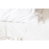 Royal Blue Bed Sheet Fitted 36 X 80 Inch White Cotton 55% / Polyester 45% Reusable, One Dozen MON 57798001