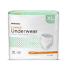 McKesson Classic Light Absorbency Underwear, X-Large, 56/CS MON 58683100