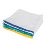 Royal Blue Bar Towel 17 X 20 Inch OE Cotton White Stripe Reusable, One Dozen MON 58898101