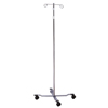 McKesson IV Pole Floor Stand entrust® 2-Hook 4-Leg, Dual-Wheel Nylon Casters, 22 Inch Epoxy-Coated Steel Base MON 59703200