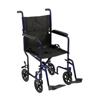 McKesson Aluminum Transport Chair (146-ATC19-BL) MON 1065256EA