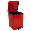 McKesson Trash Can with Plastic Liner 20 Quart Square Red Steel Step On, 1/EA MON 62704101