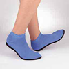 Hospital Apparel: PBE - Slippers Pillow Paws Azure Ankle High