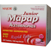 Major Pharmaceuticals Pain Relief Mapap® JR 160 mg Strength Tablet 24 per Bottle MON 64442700